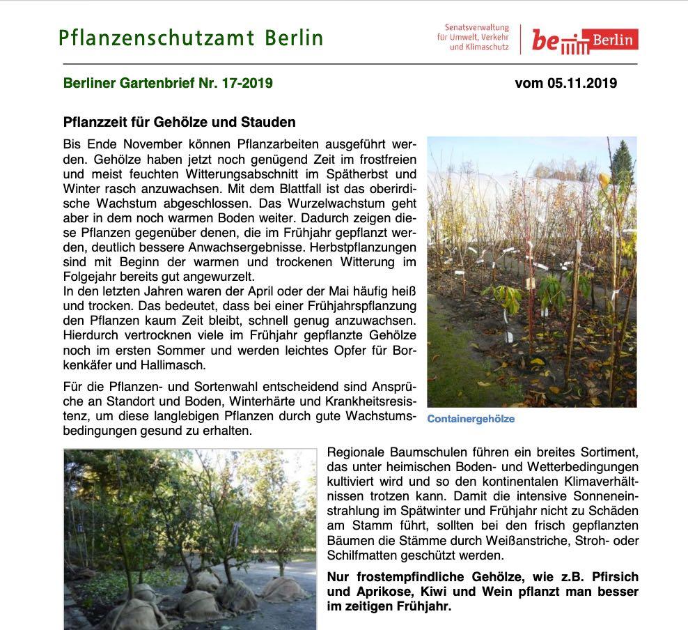 Gartenbrief Newsletter